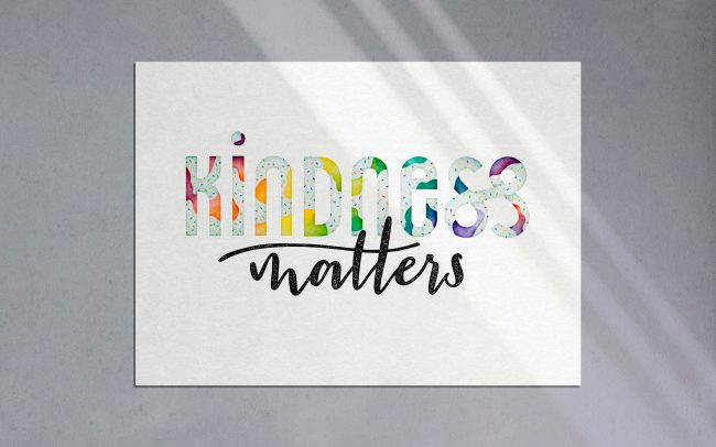Kindness Matters Lettering Mockup
