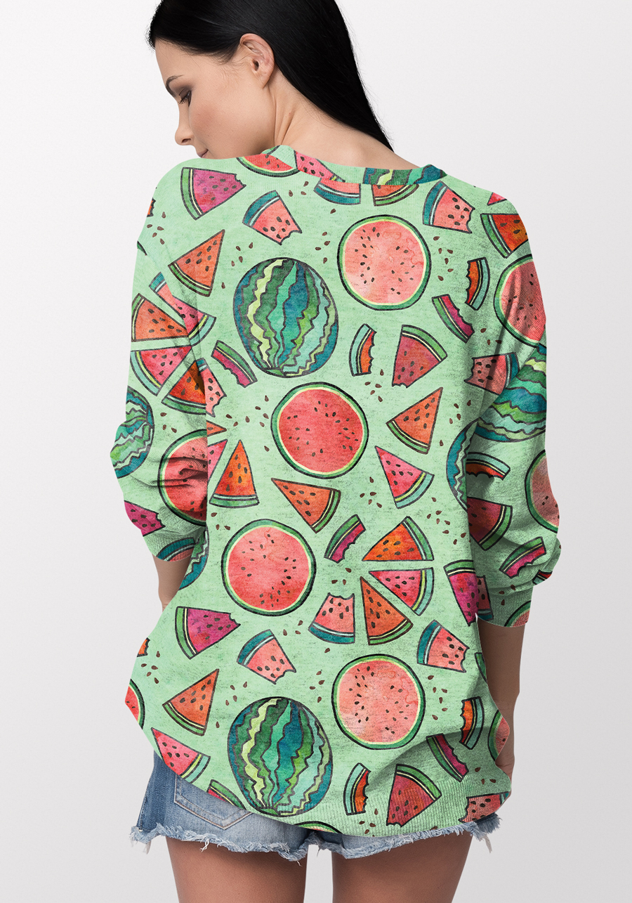 Melon surface pattern design on sweater